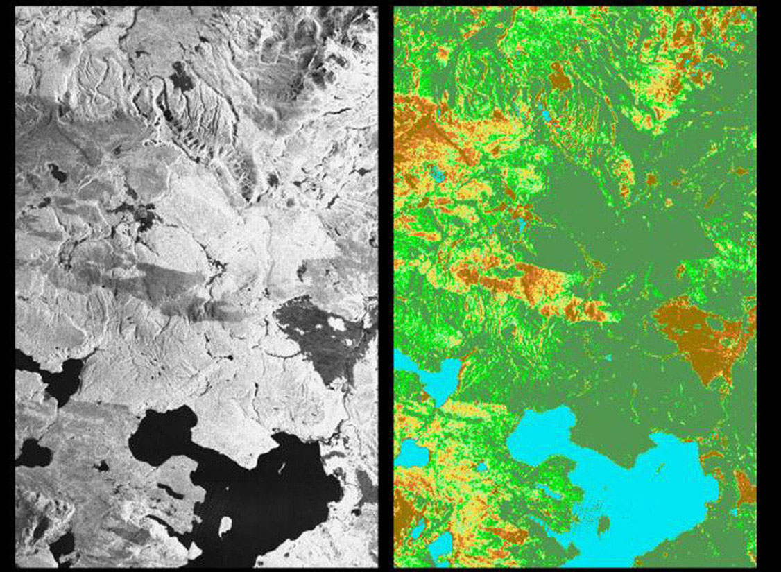 Space Images | Space Radar Image of Yellowstone Park, Wyoming