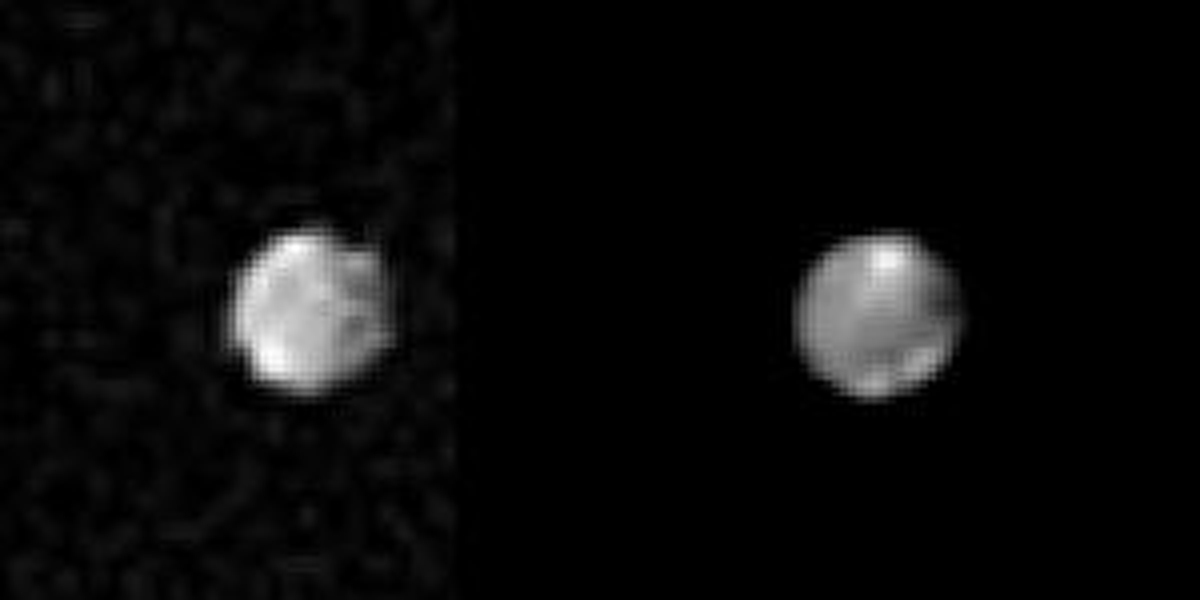 NASA's Voyager 2 took these images of Saturn's outer satellite Phoebe, on Sept. 4, 1981, from 2.2 million kilometers (1.36 million miles) away.