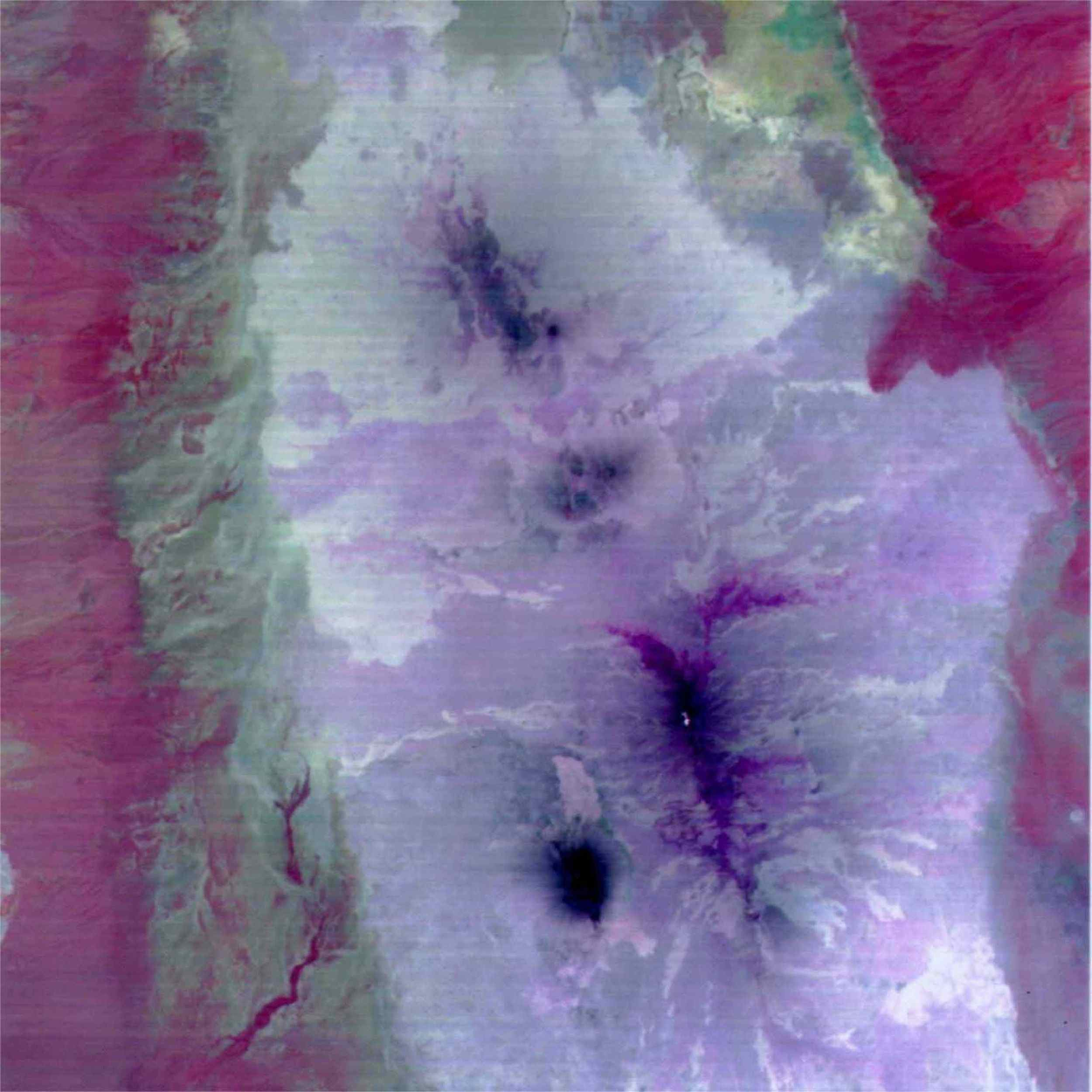 This image from NASA's Terra spacecraft is a color composite covering the Rift Valley inland area of Ethiopia.