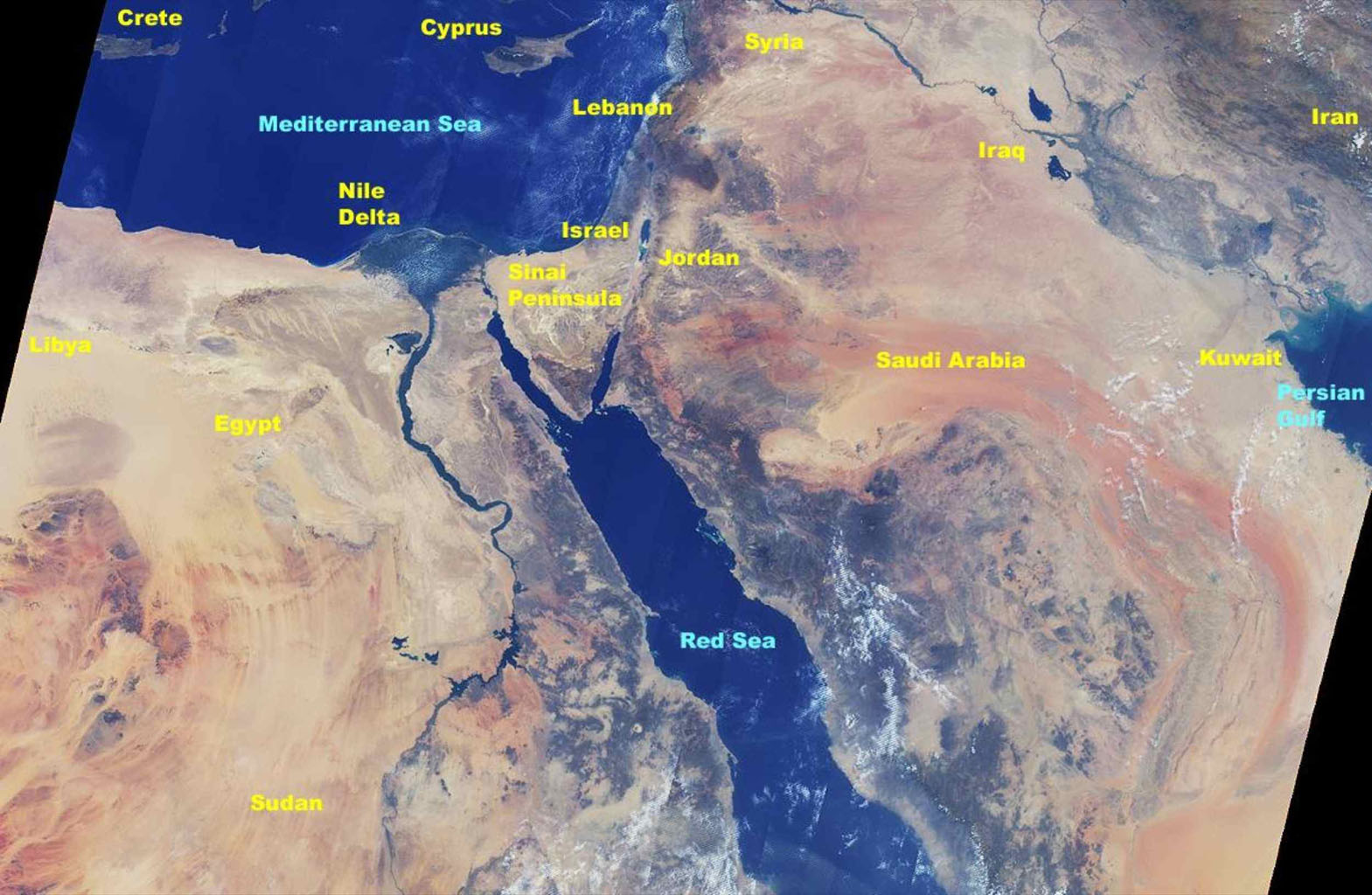 Space Images | MISR Views the Middle East on sea of galilee map jordan river, egypt map jordan river, asia map jordan river, middle east map jordan river, israel map jordan river,