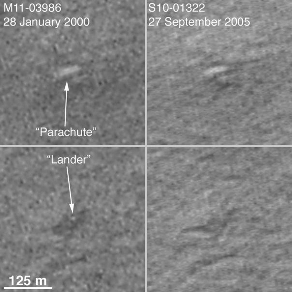 NASA's Mars Global Surveyor shows the landing ellipse, in hopes of spotting the Mars Polar Lander in December 1999, and, perhaps, to provide additional insight as to its fate. The lander was not found here.