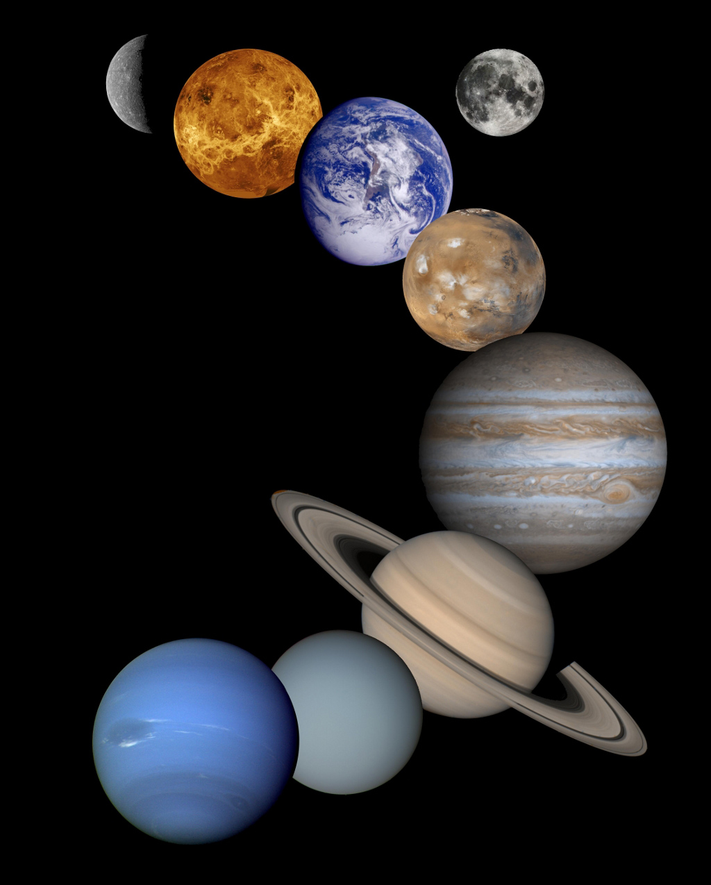 Space Images | Solar System Montage - High Resolution 2001 ...