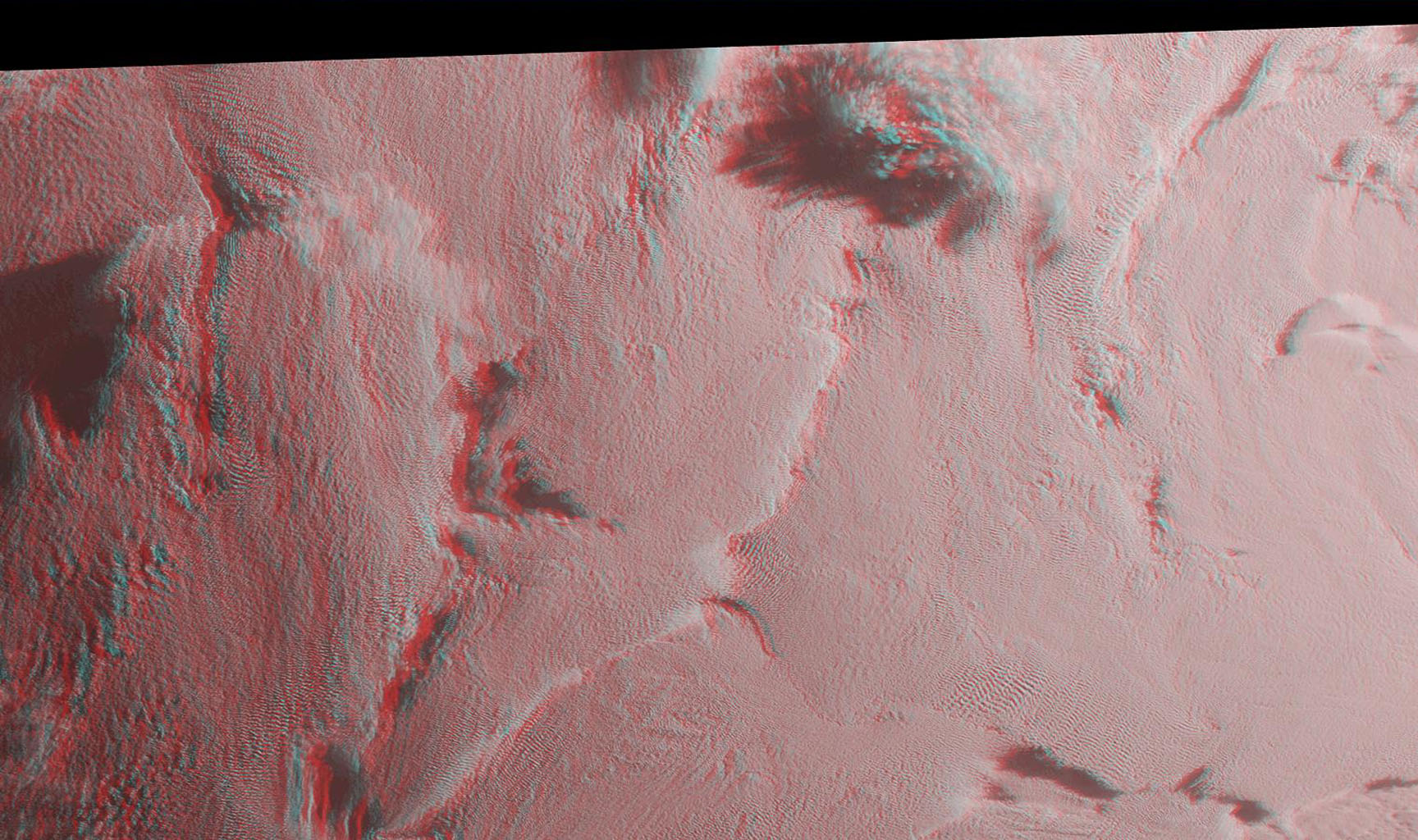 Stratus clouds are common in the Arctic during the summer months, and are important modulators of the arctic climate as seen in this anaglyph from the MISR instrument aboard NASA's Terra spacecraft. 3D glasses are necessary to view this image.