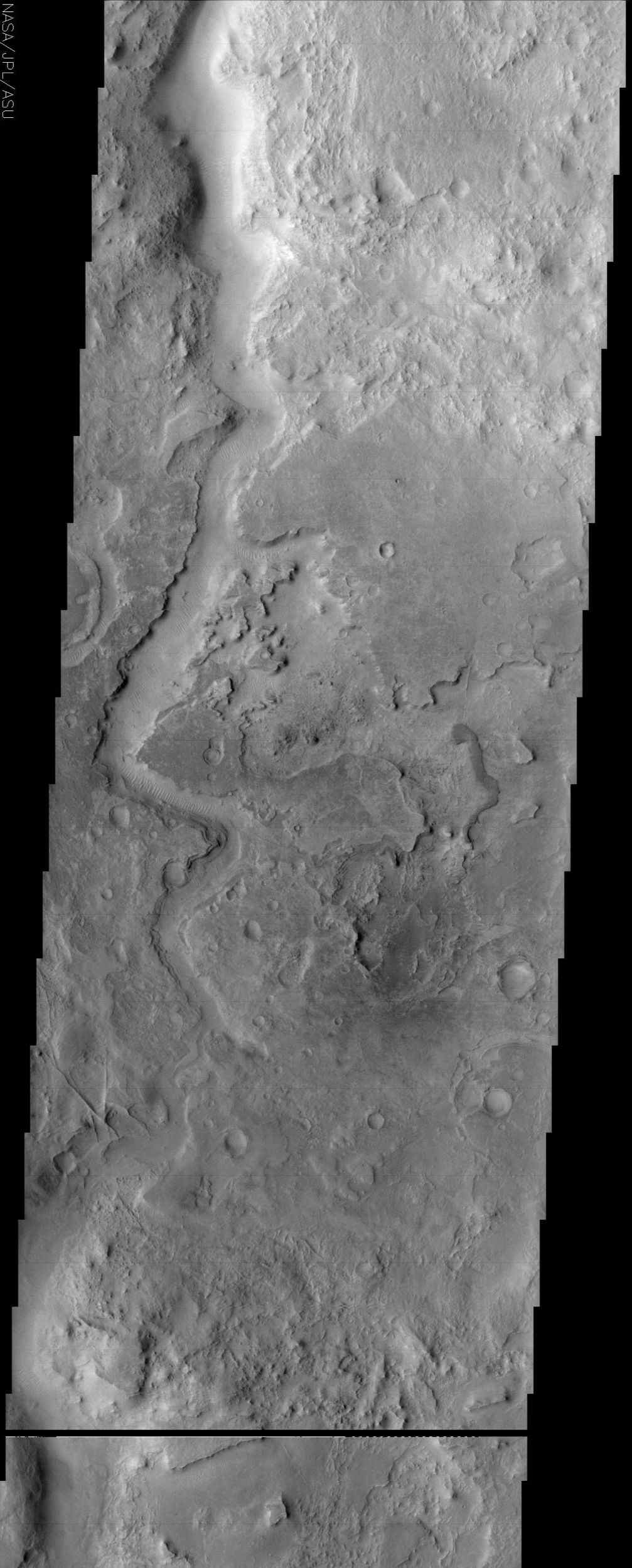 This image from NASA's Mars Odyssey spacecraft shows an ancient channel in Arabia Terra.