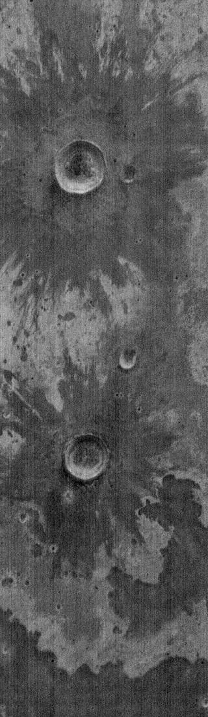 NASA's Mars Odyssey spacecraft takes a look at THEMIS image as art. Many science-fiction writers have postulated many life forms on Mars. Perhaps some flowers?