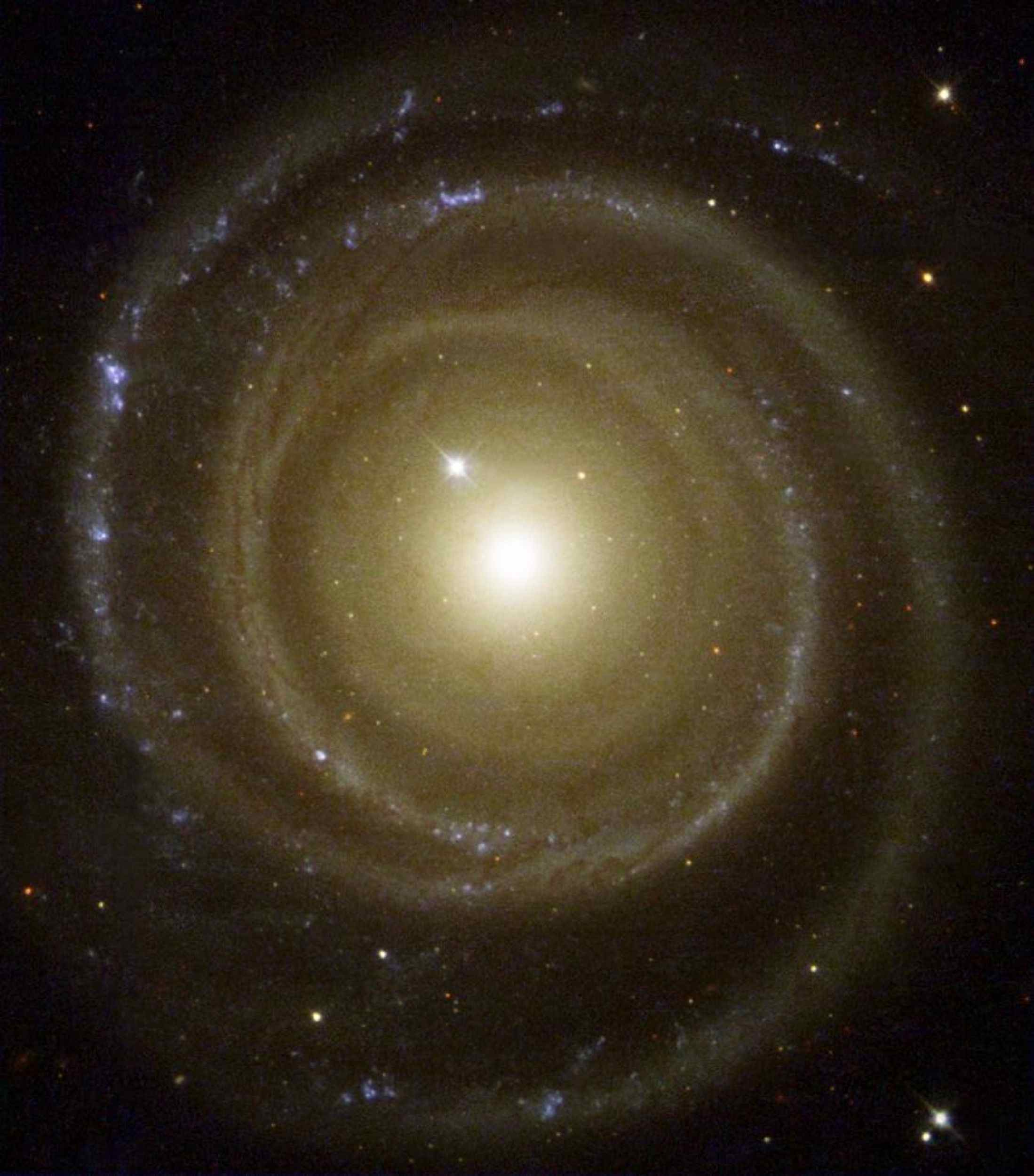 Astronomers using NASA's Hubble Space Telescope have found a spiral galaxy that may rotate in the opposite direction from what was expected.