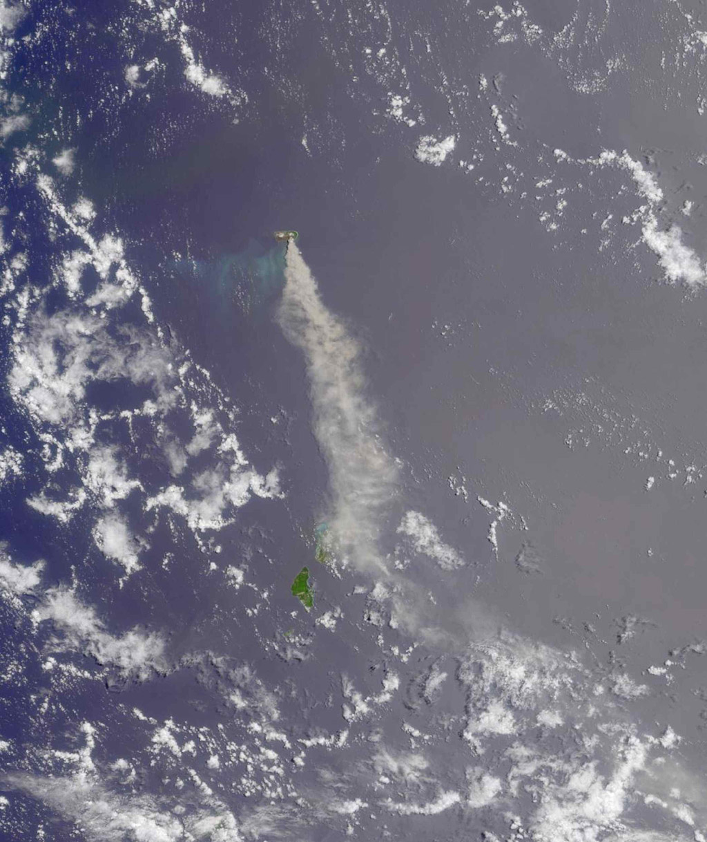 Anatahan Island is shown in this MISR Mystery Quiz #14 captured by NASA's Terra spacecraft.