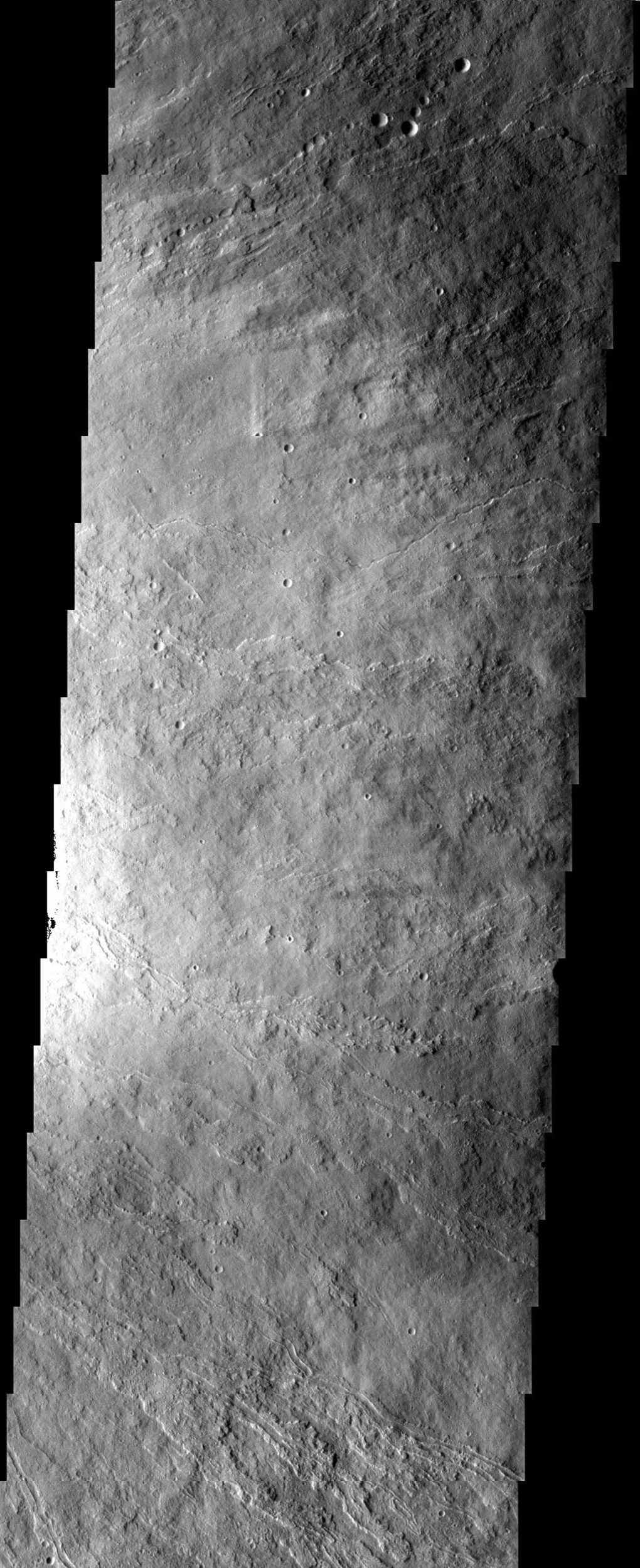 The surface textures observed in this NASA Mars Odyssey image of Ascraeus Mons are due to different volcanic flow types. Textural variations can be produced under a variety of different conditions such as varying cooling and flow rates.