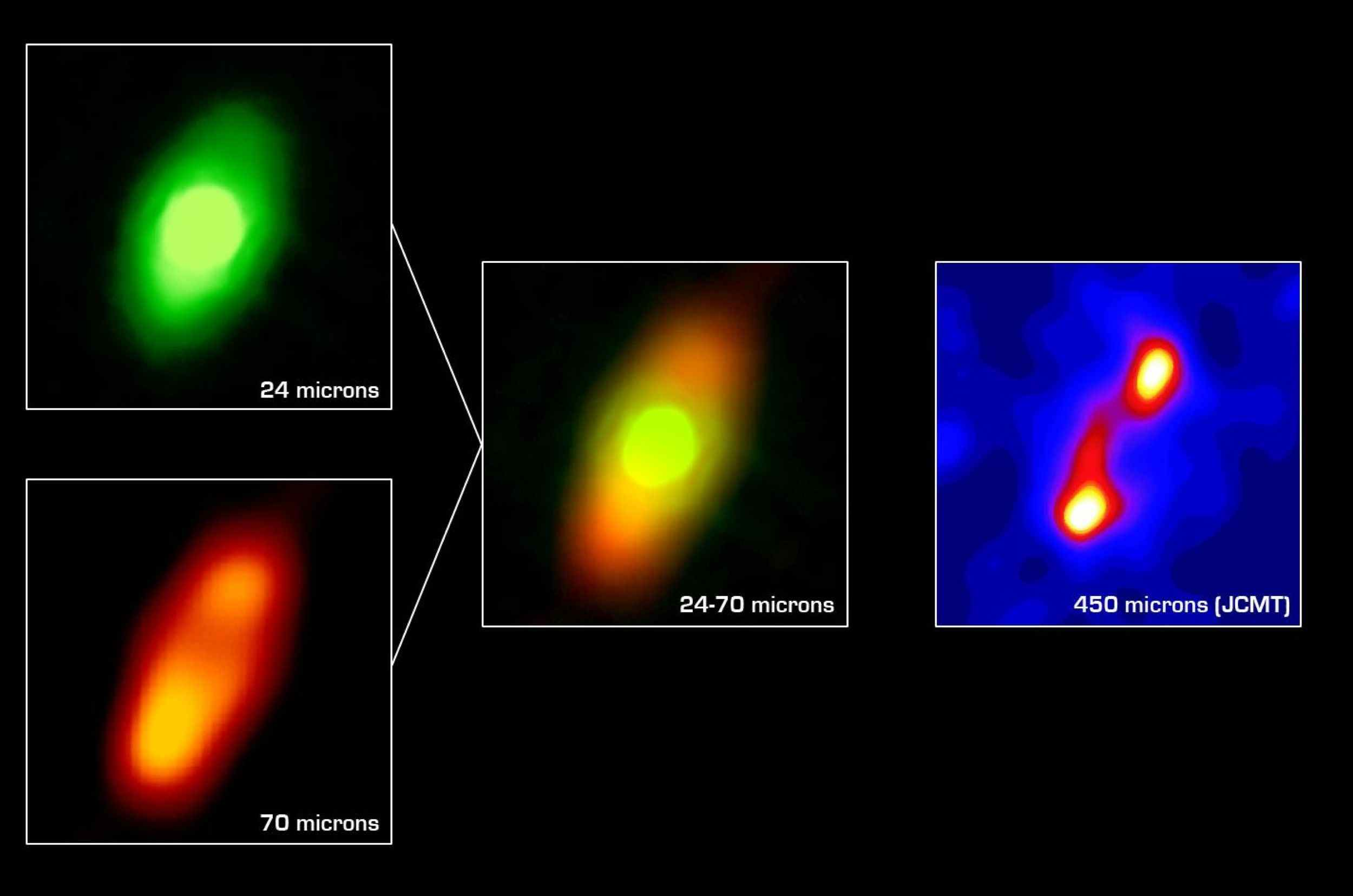 NASA Spitzer Space Telescope has obtained the first infrared images of the dust disc surrounding Fomalhaut, the 18th brightest star in the sky.