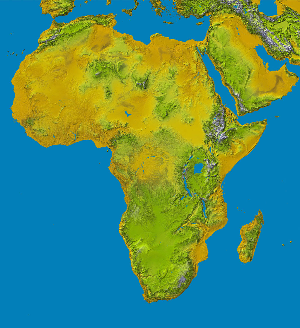 Space images srtm data release for africa colored height elevation data at the highest possible resolution from nasas srtm mission in february 2000 are being gumiabroncs Choice Image