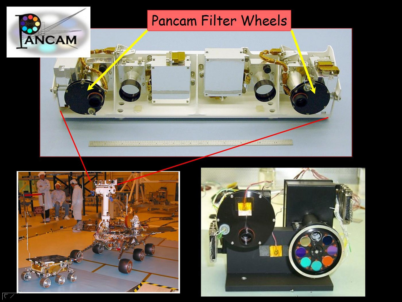 This image taken at NASA's Jet Propulsion Laboratory shows the panoramic camera used onboard both NASA Mars Exploration Rovers.