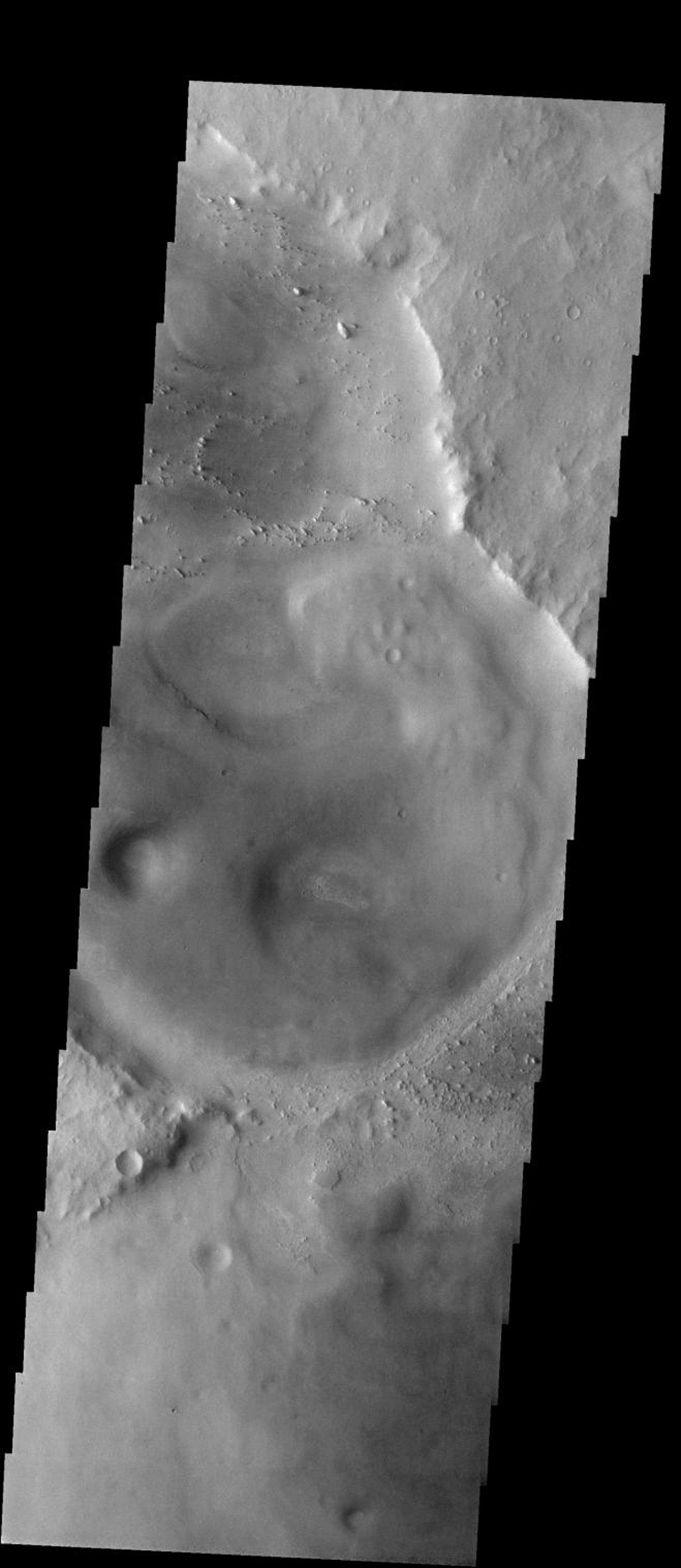 This image from NASA's 2001 Mars Odyssey released on Jan 26, 2004 shows the flat surface of Meridiani Planum on Mars.