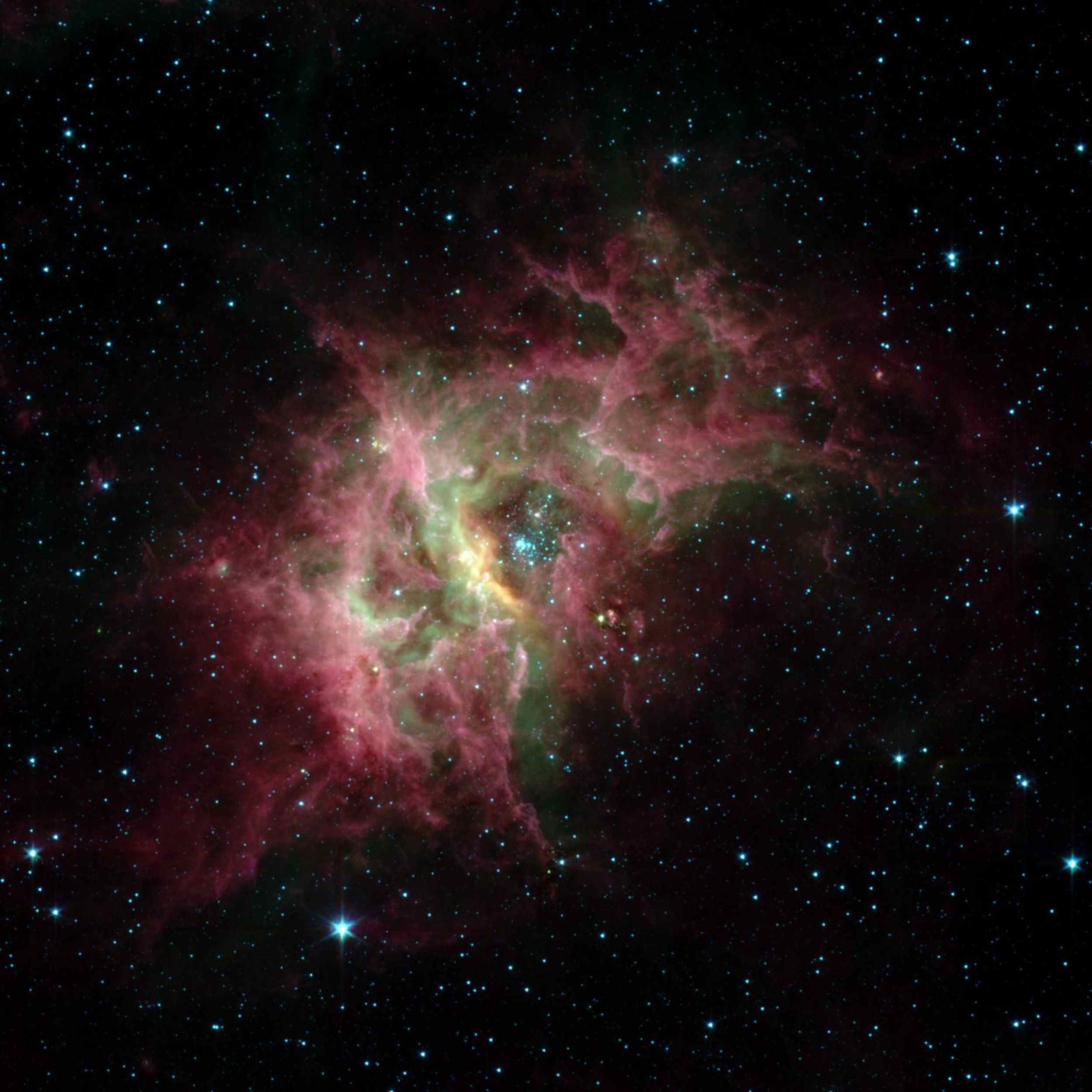 Space Images | Stellar Jewels Shine in New Spitzer Image