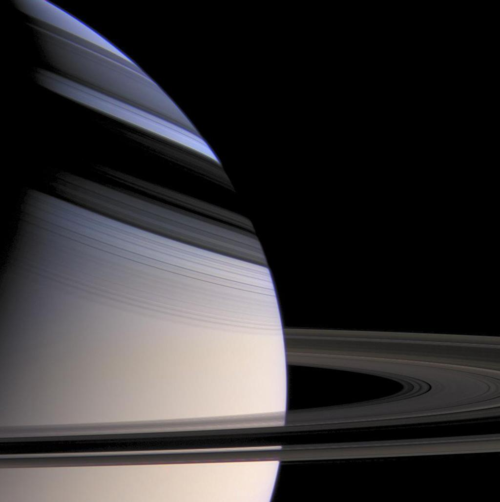Few sights in the solar system are more strikingly beautiful than softly hued Saturn embraced by the shadows of its stately rings.