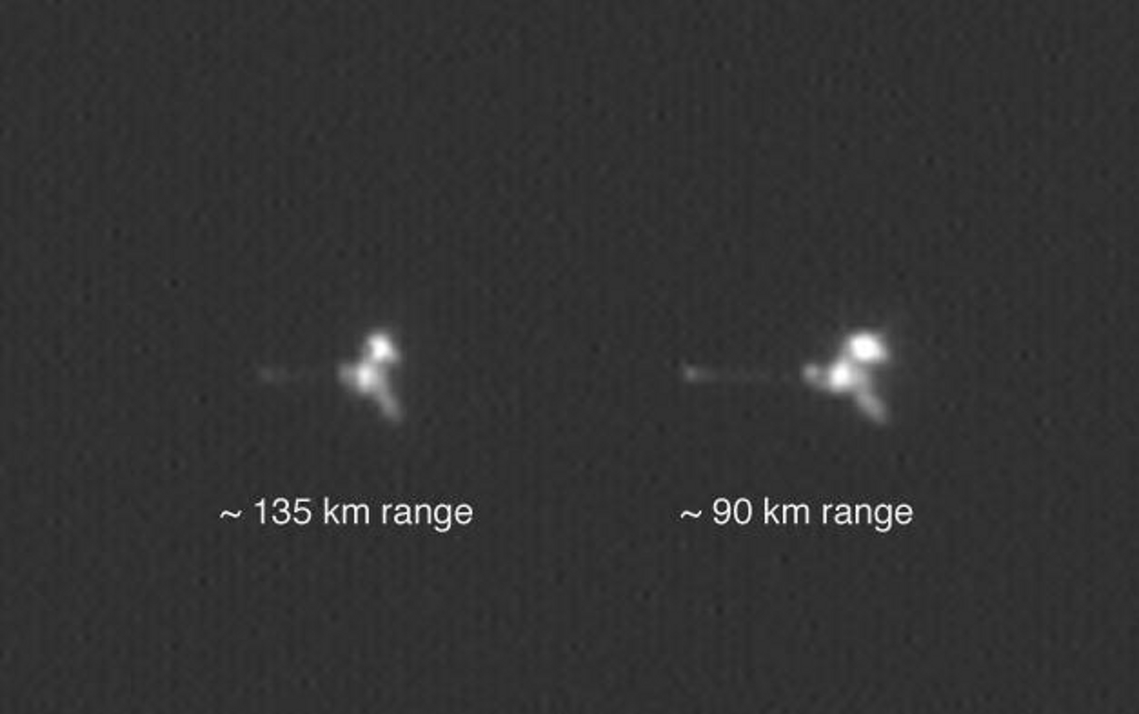 Space Images | Mars Odyssey from Two Distances in One Image