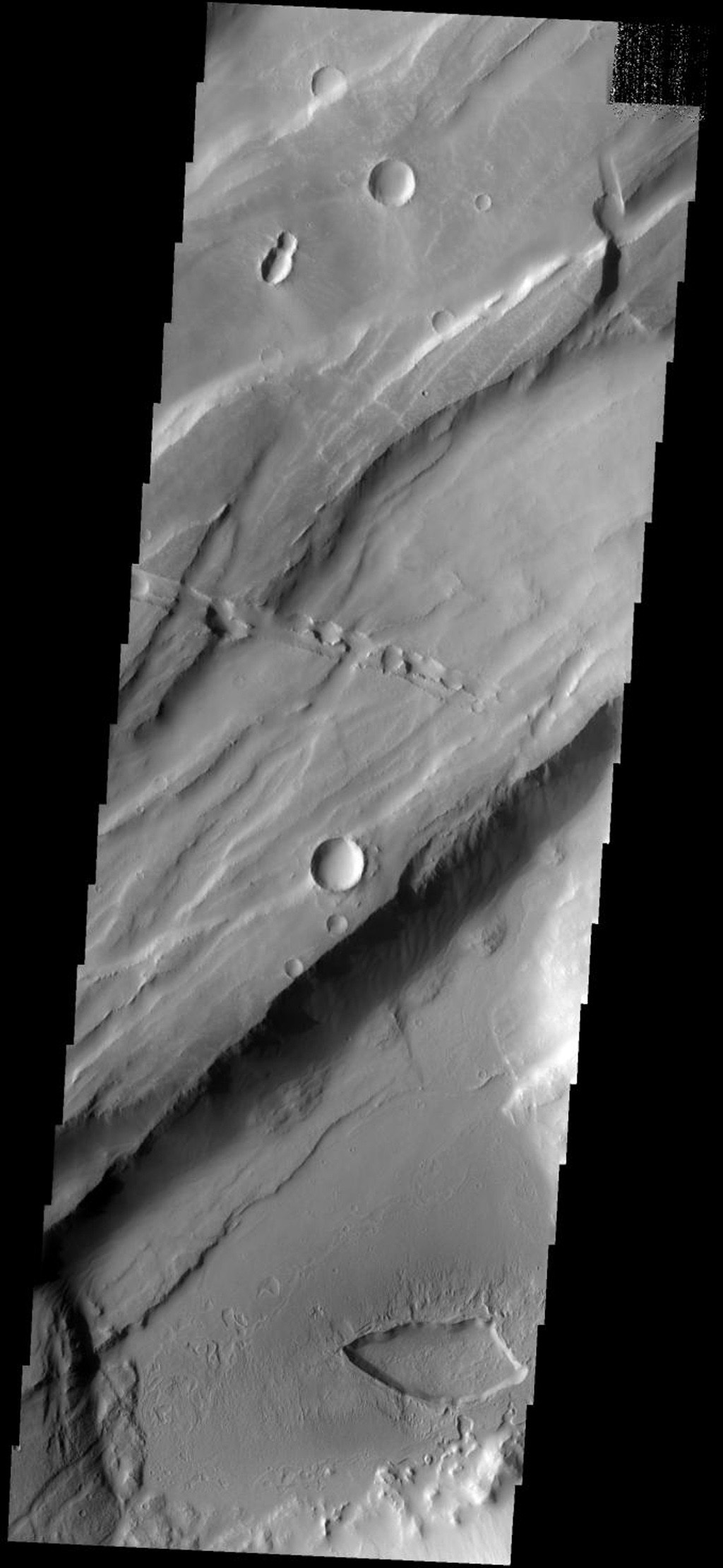 This image is from NASA's 2001 Mars Odyssey. THEMIS ART IMAGE #64 Give me a kiss, this depression looks like lips and what appears to be a bug in the upper left.