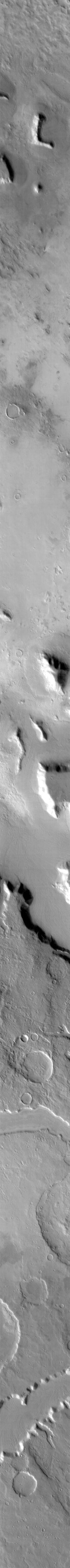This image from NASA's 2001 Mars Odyssey spacecraft is THEMIS ART IMAGE #70 In our continuing quest to find the martian alphabet - we have the 'L'.