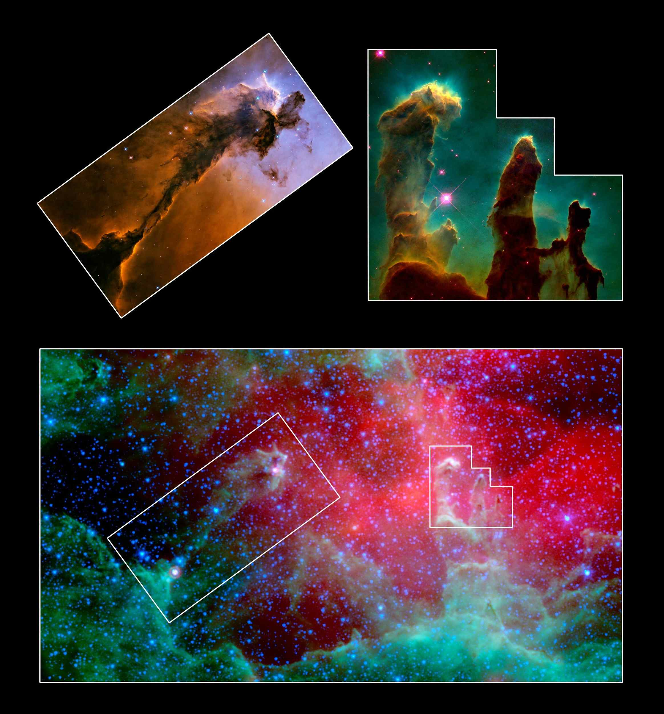 Space Images Unwrapping The Pillars - Nasa release new hd photographs iconic pillars creation photo