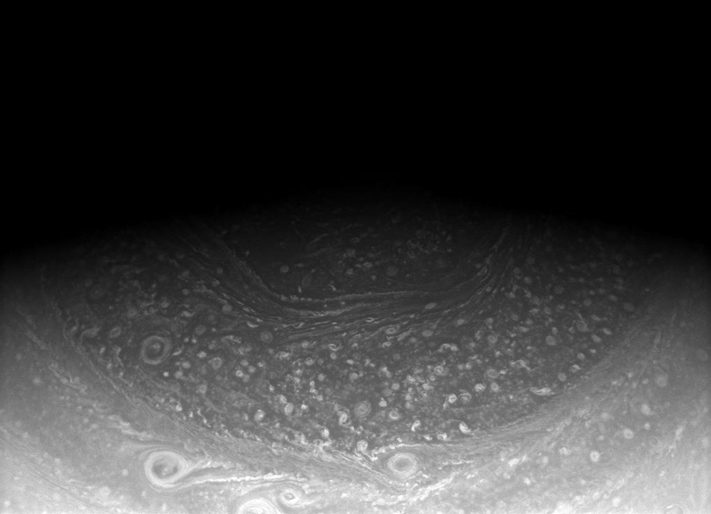 Saturn's north pole hexagon, seen here in an image from NASA's Cassini spacecraft, has been around for awhile. It was seen in Voyager images in the early 1980s, in ground-based telescopic images in the 1990s, and now with Cassini.