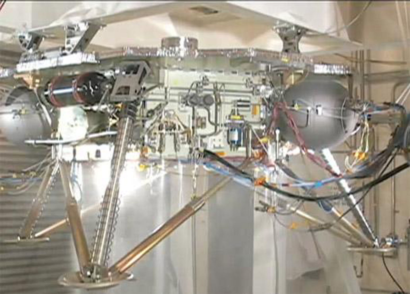 This video shows the propulsion system on an engineering model of NASA's Phoenix Mars Lander being successfully tested.