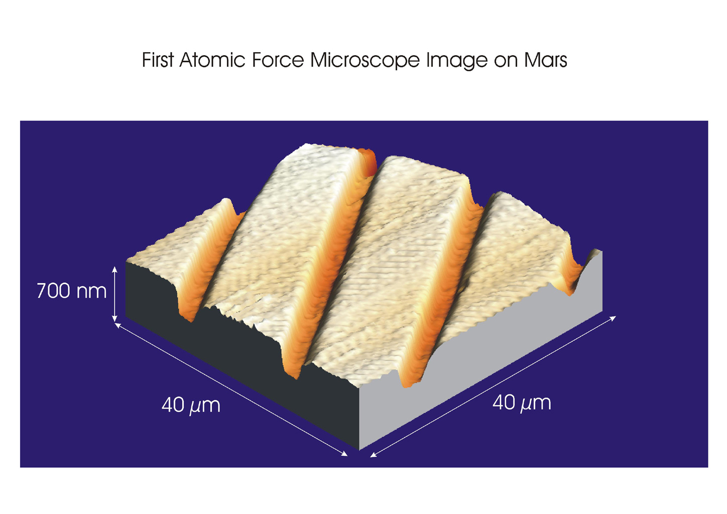 Space Images | First Atomic Force Microscope Image from Mars
