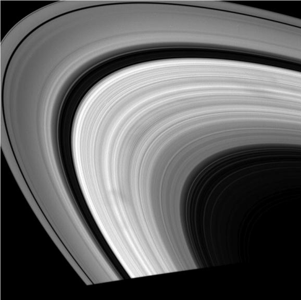 Dark spokes dance around Saturn's B ring in this series of movies comprised of images taken NASA's Cassini spacecraft's wide-angle camera.