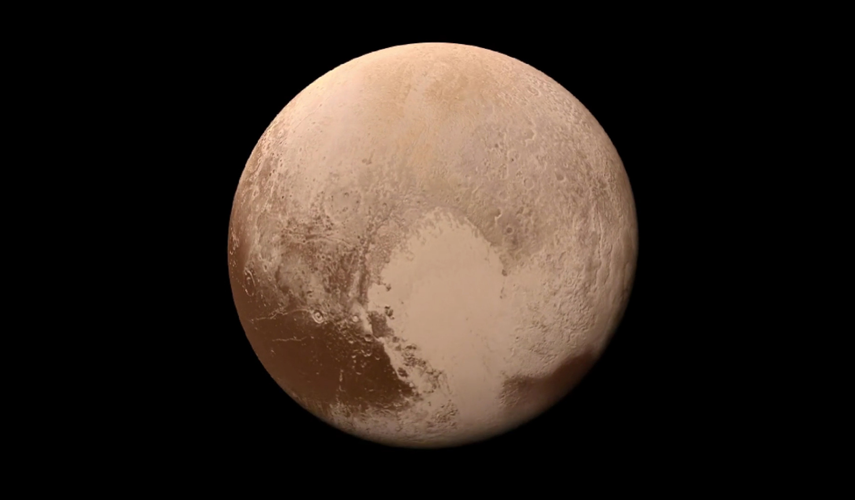 This image obtained by NASA's New Horizons spacecraft is from a movie made from more than 100 images taken by NASA's New Horizons spacecraft over six weeks of approach and close flyby in the summer of 2015.