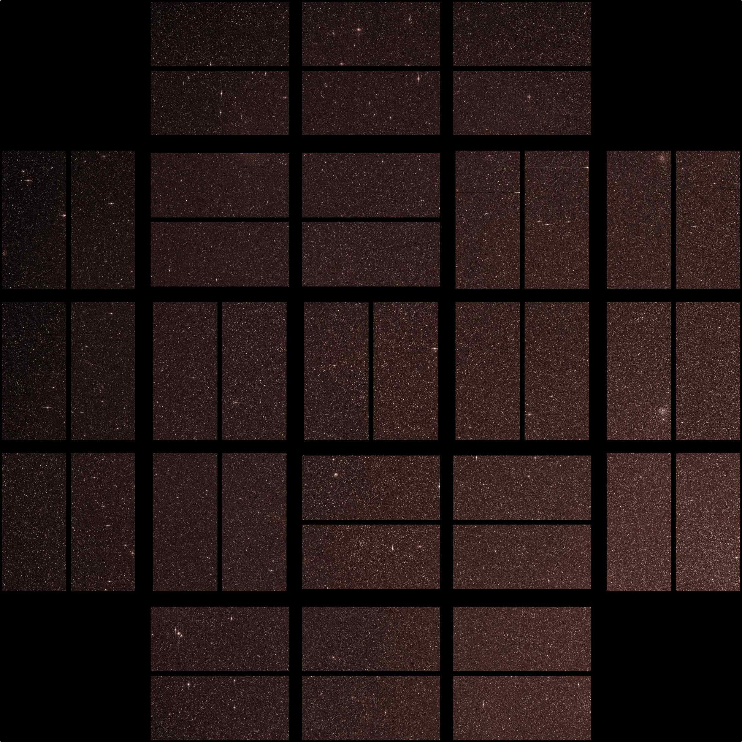 This image from NASA's Kepler mission shows the telescope's full field of view an expansive star-rich patch of sky in the constellations Cygnus and Lyra stretching across 100 square degrees, or the equivalent of two side-by-side dips of the Big Dipper.