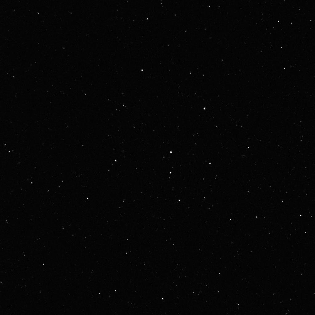 A star field in the constellation Cepheus is a composite of two 600-second exposures by the Framing Camera acquired during tests on December 3, 2007.