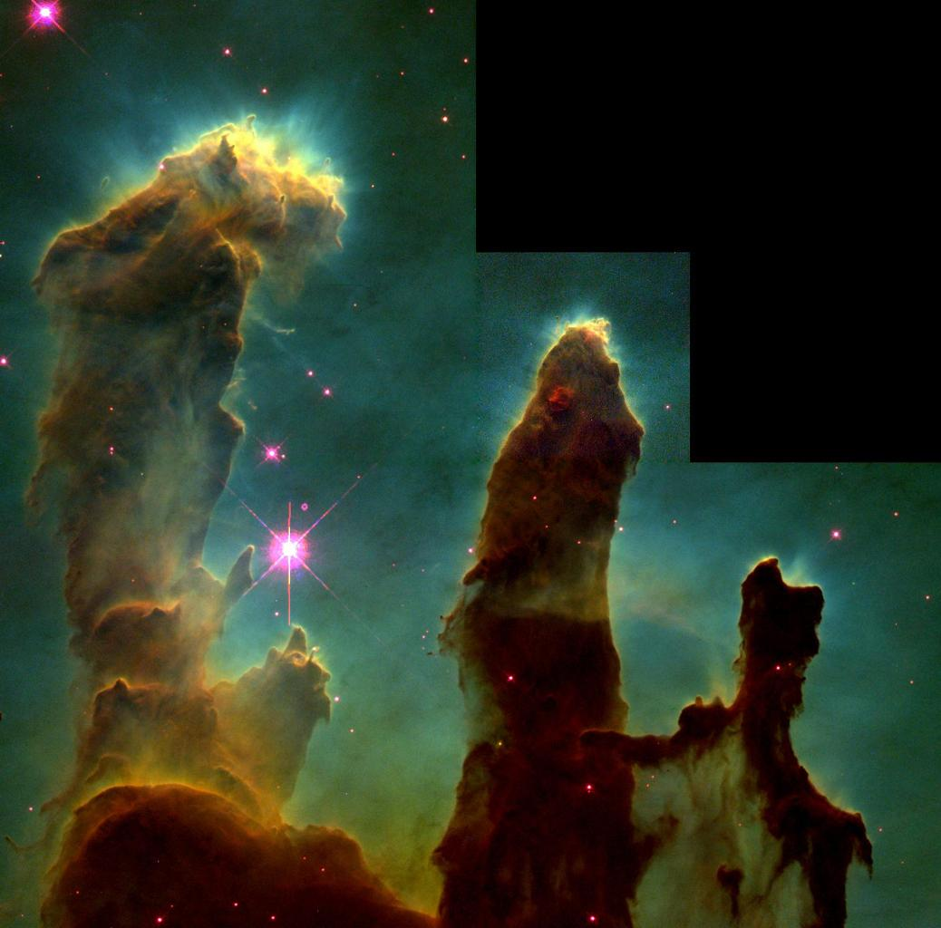 Eerie, dramatic pictures from NASA's Hubble telescope show newborn stars emerging from 'eggs' -- dense, compact pockets of interstellar gas called evaporating gaseous globules or EGGs.