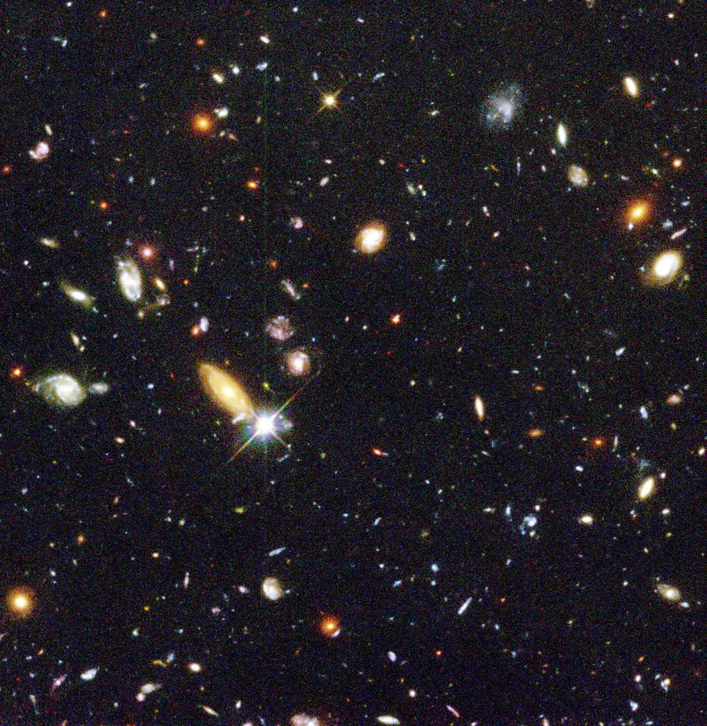 "Several hundred never before seen galaxies are visible in this ""deepest-ever"" view of the universe, called the Hubble Deep Field, made with NASA's Hubble Space Telescope."