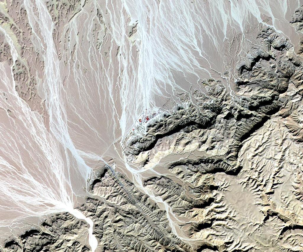 NASA's Terra spacecraft acquired this image of St. Anthony's, the world's oldest Christian monastery, settled in the remote mountainous area of eastern Egypt near the Red Sea.