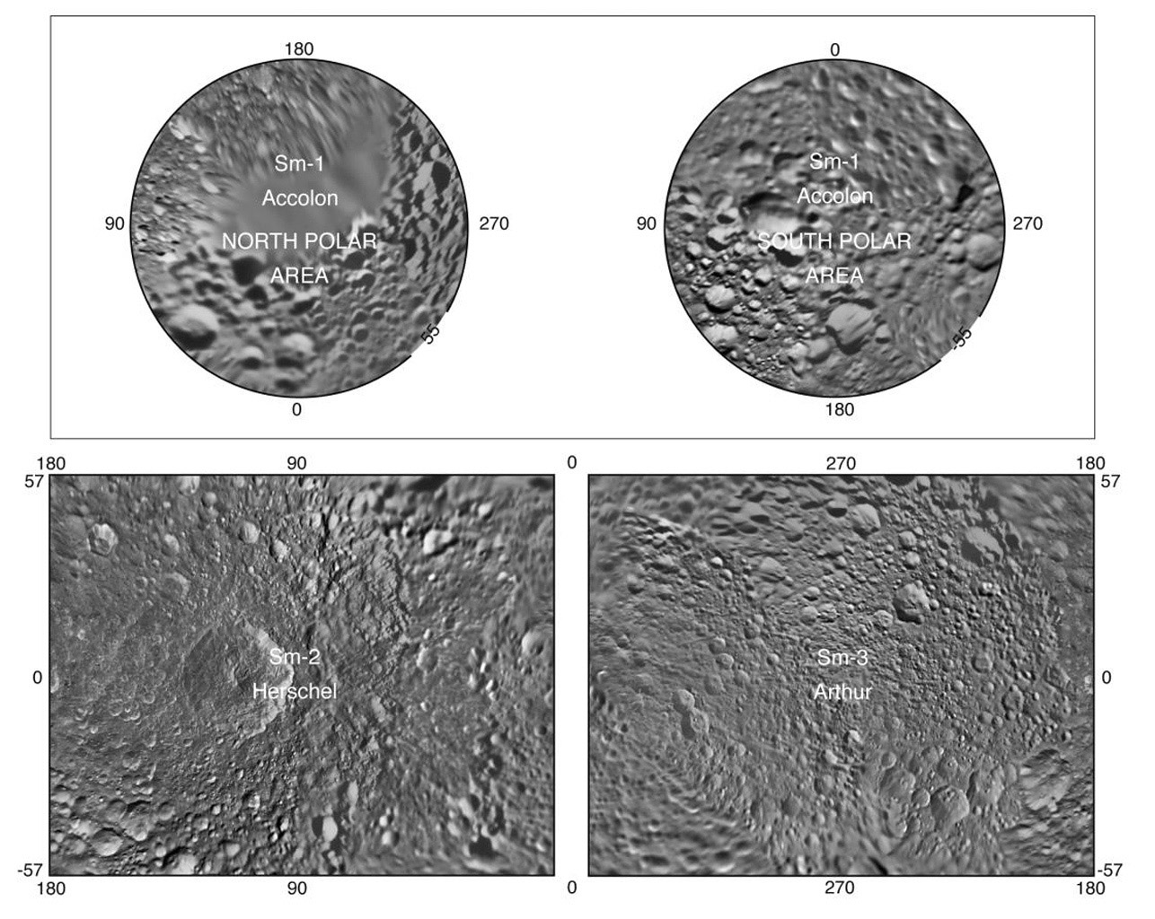 Presented here is a complete set of cartographic map sheets from a high-resolution atlas of Saturn's moon Mimas. The atlas is a product of the imaging team working with NASA's Cassini spacecraft.