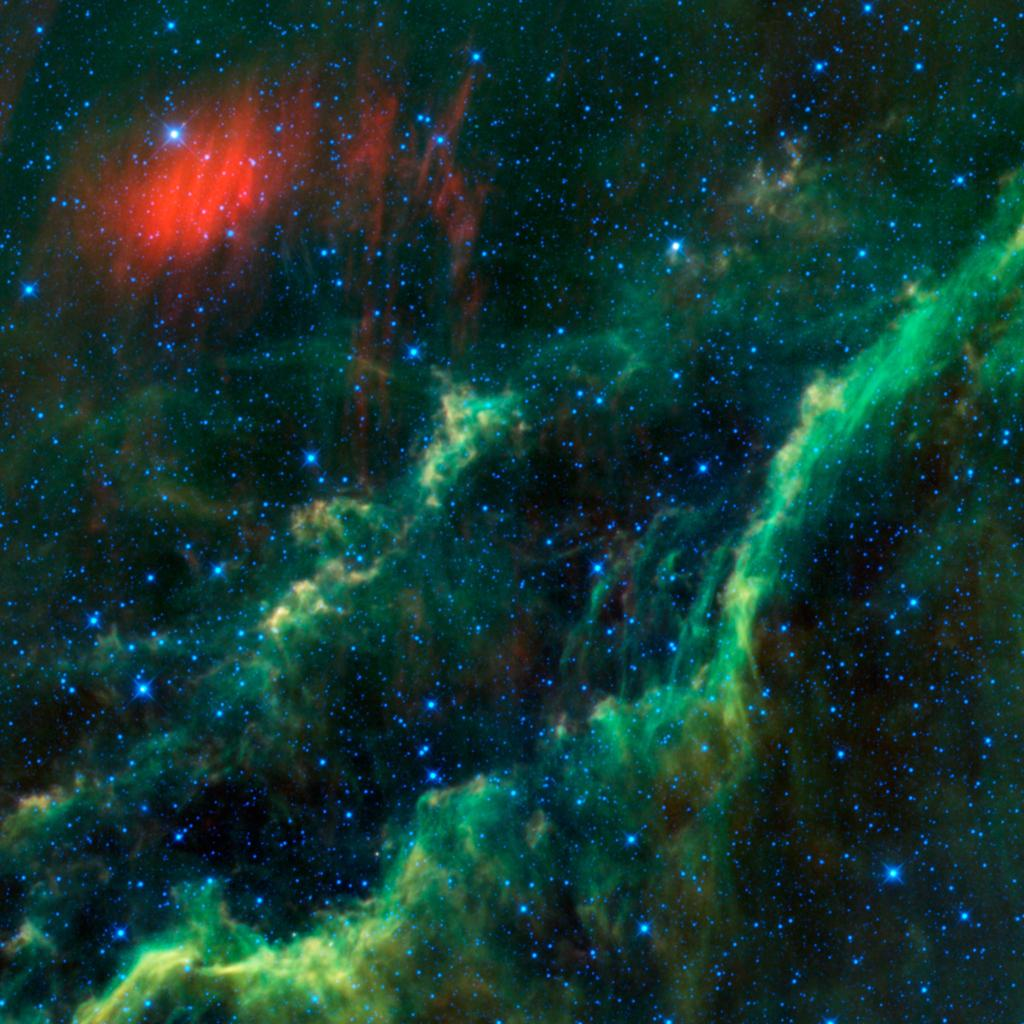 This infrared image from NASA's Wide-field Infrared Survey Explorer features one of the bright stars in the constellation Perseus, named Menkhib, along with a large star forming cloud commonly called the California Nebula.
