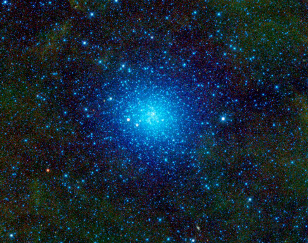NASA's Wide-field Infrared Survey Explorer has captured a favorite observing target of amateur astronomers, Omega Centauri. This celestial cluster of stars can be found in the constellation Centaurus.