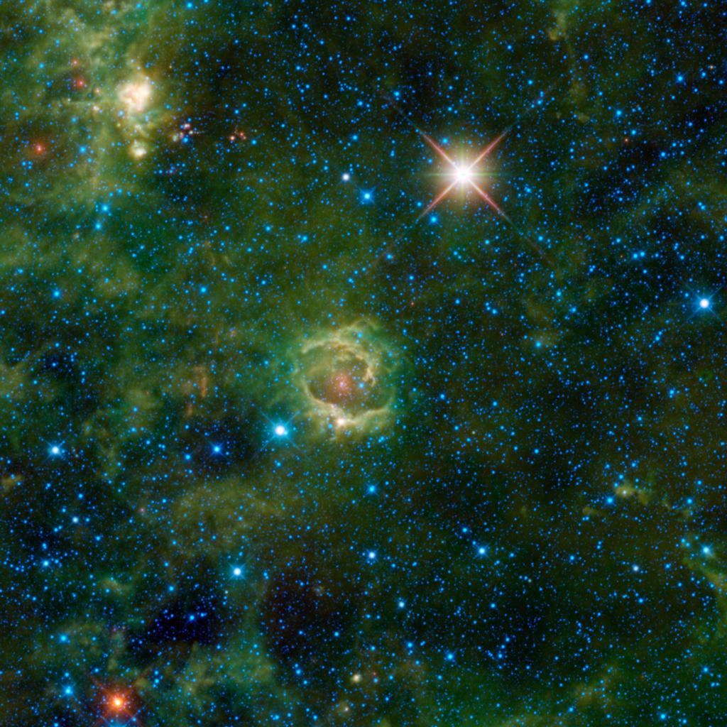 Nebulae are enormous clouds of dust and gas occupying the space between the stars. Simply called LBN 114.55+00.22, is seen here in an image from NASA's Wide-field Infrared Survey Explorer.
