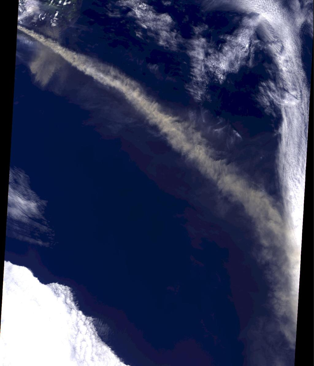 Iceland's Eyjafjallajökull volcano produced its second major ash plume beginning on May 7, 2010. NASA's Terra satellite passed just east of the volcano mid-morning and captured this image the same day.