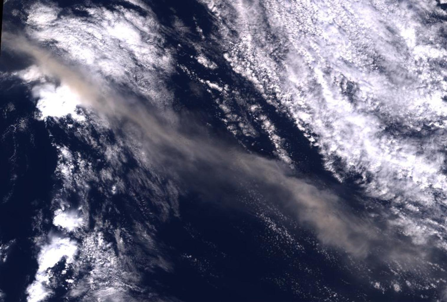 Ash from Iceland's Eyjafjallajökull volcano, viewed here in imagery from NASA's Terra spacecraft on May 16, 2010, once again disrupted air traffic over Europe with the closure of major airports in the United Kingdom and the Netherlands.