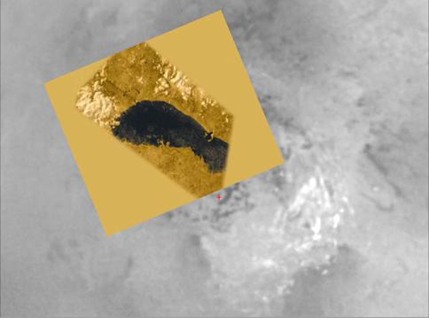 This image is from an animation that glides along the shoreline of Ontario Lacus, the largest lake on the southern hemisphere of Saturn's moon Titan. The animation is based on overlapping radar images obtained by NASA's Cassini spacecraft.