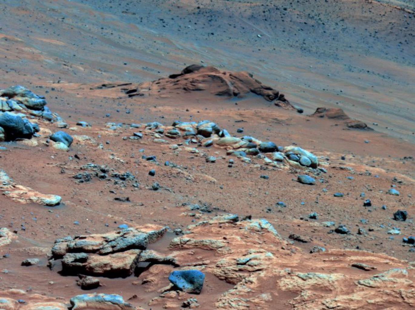 Lengthy detective work from data collected by NASA's rover Spirit confirmed that an outcrop called 'Comanche' contains a mineral indicating that a past environment was wet and non-acidic, possibly favorable to life.