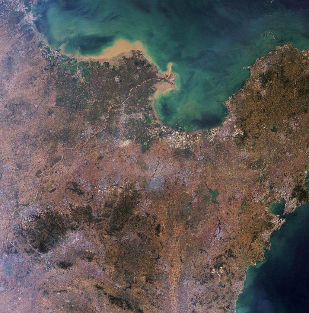 This image of the Shandong Province, China was acquired by the Multi-angle Imaging SpectroRadiometer instrument aboard NASA's Terra spacecraft. This image is from the MISR Where on Earth...? Mystery Quiz #24.