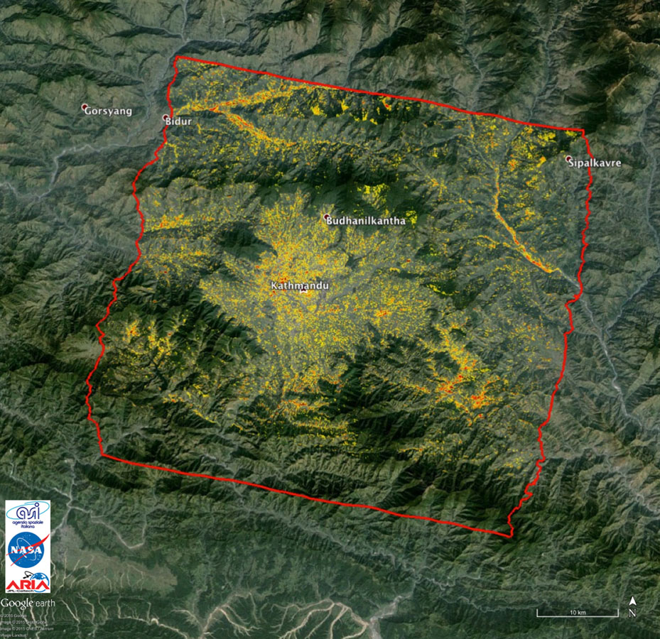 NASA data and expertise are providing valuable information for the ongoing response to the April 25, 2015, magnitude 7.8 Gorkha earthquake in Nepal.