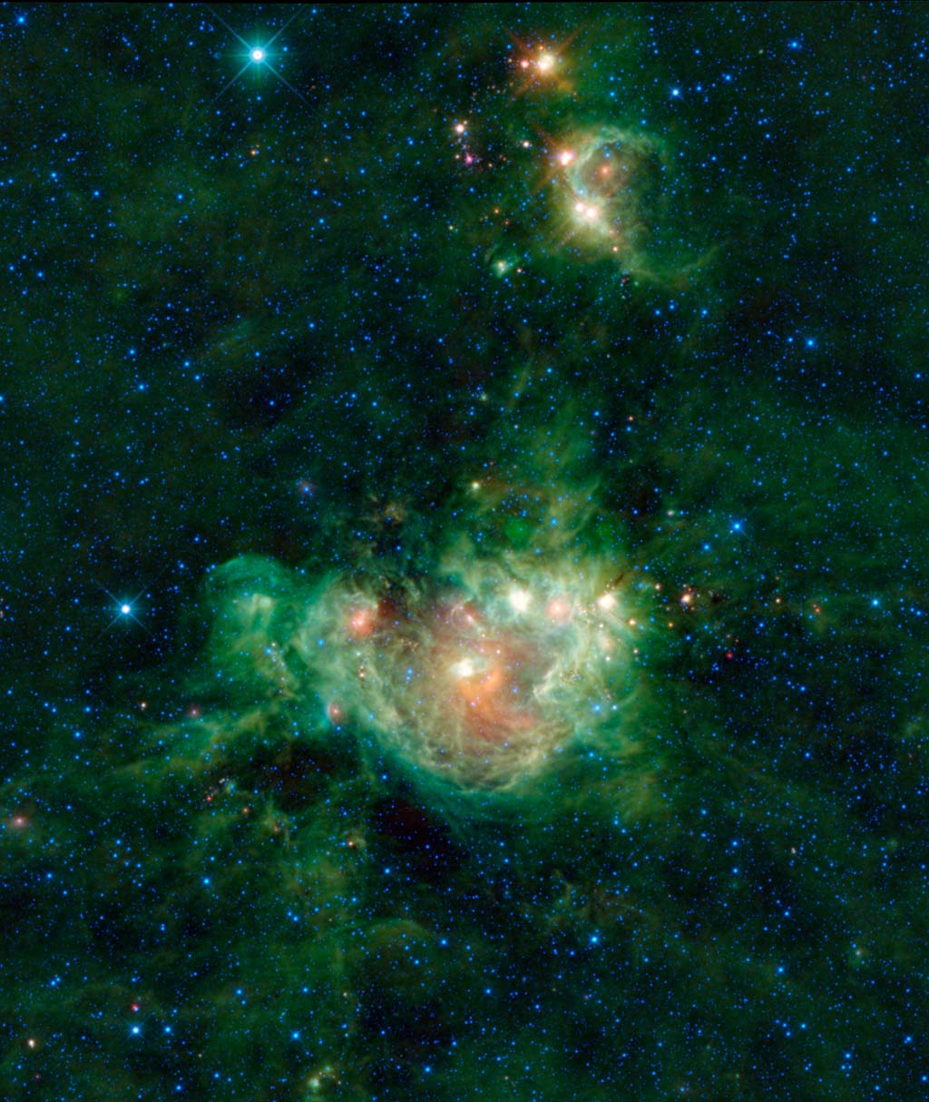 NASA's Wide-field Infrared Survey Explorer is a little like the Vincent van Gogh of the infrared sky, providing the world with picturesque images of the cosmos by representing infrared light through color. This image is the nebula NGC 2174.
