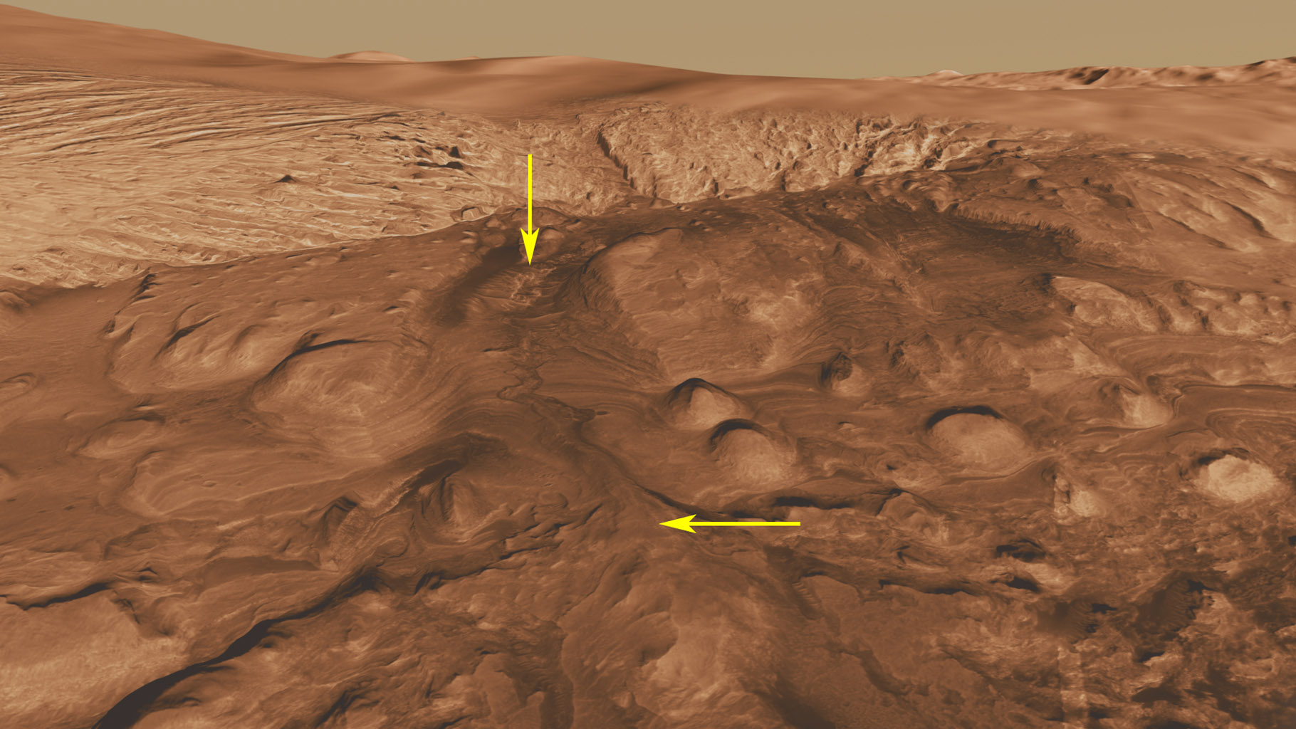 Space Images   Rock Types in Gale Crater