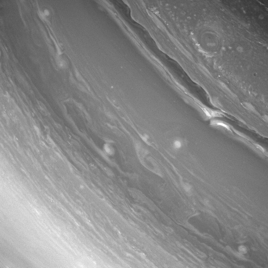 NASA's Cassini spacecraft captures Saturn's richly dynamic atmosphere rewards viewers with unique and fascinating structures with every new observation.