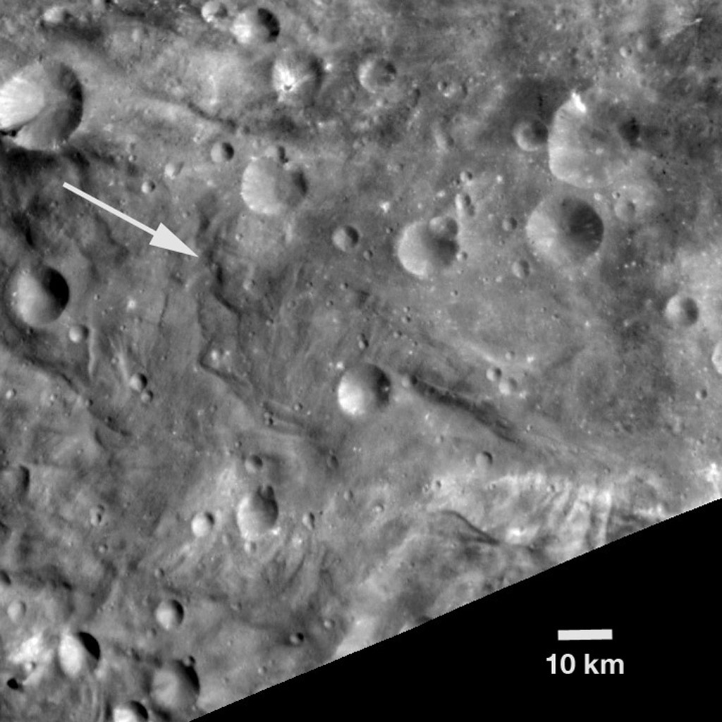NASA's Dawn spacecraft obtained this image of an unusual hill on asteroid Vesta with its framing camera on August 18, 2011. The image has a resolution of about 260 meters per pixel.