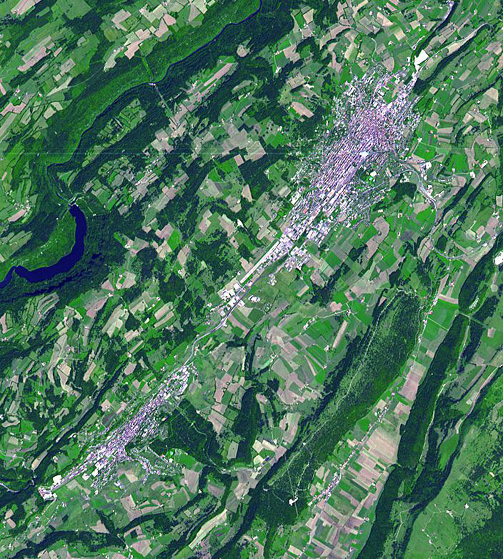 This image acquired by NASA's Terra spacecraft is of La Chaux-de-Fonds, a Swiss city in the Jura Mountains, founded in 1656.