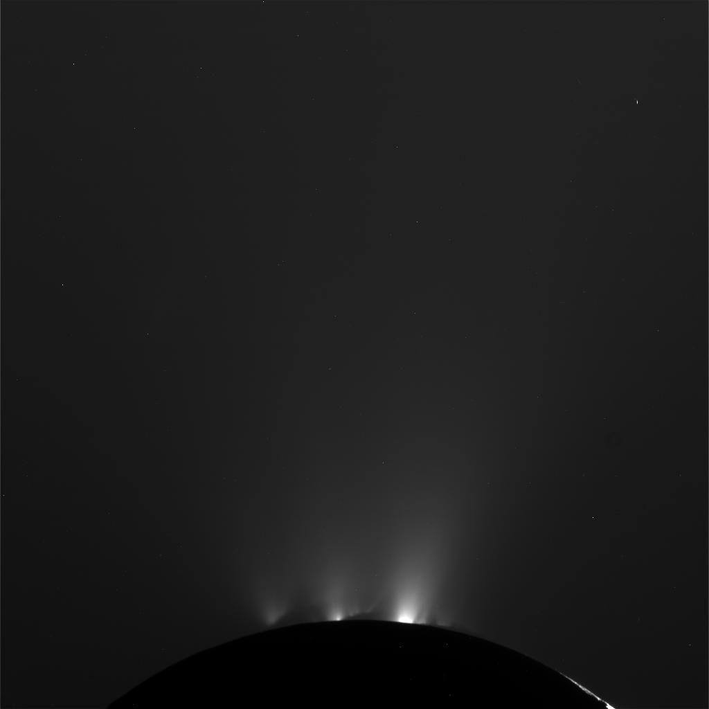 NASA's Cassini spacecraft successfully completed its Oct. 1, 2011 flyby of Saturn's moon Enceladus and its jets of water vapor and ice.