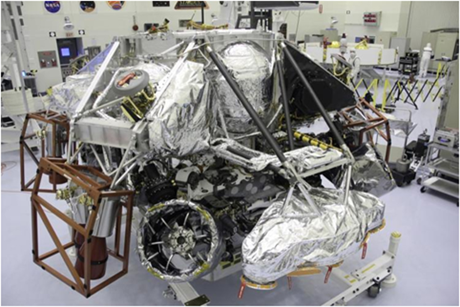 The Mars Science Laboratory mission's 'powered descent vehicle' is the integrated combination of the spacecraft's descent stage and the rover Curiosity.