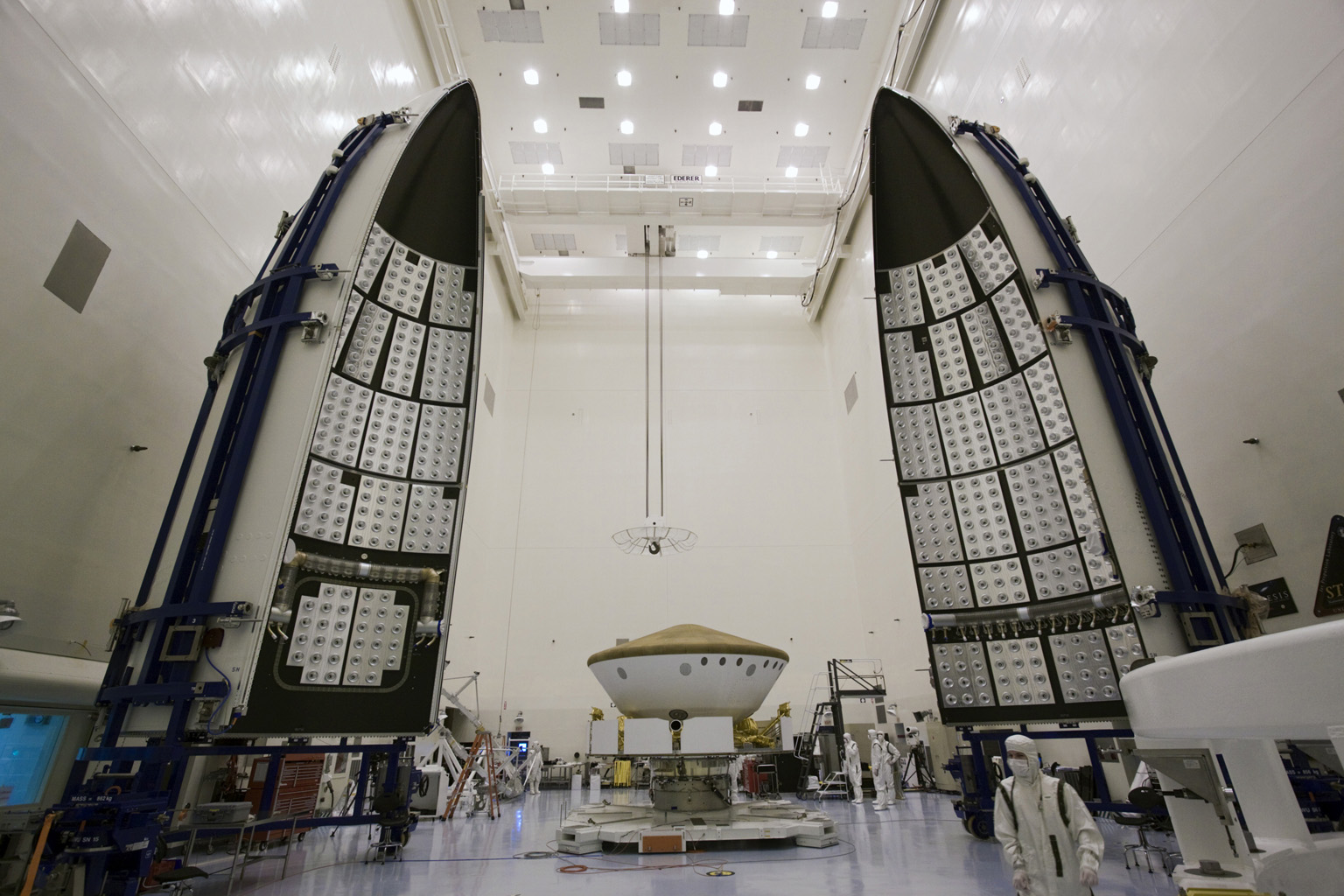 Space Images Mars Science Laboratory And Its Payload Fairing